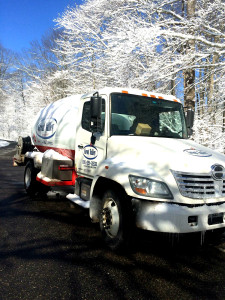 snowy GVP truck